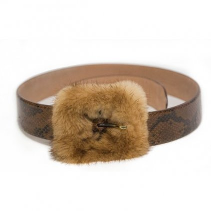 BLUMARINE Belt with Fur