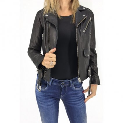 IRO Black Lamb Leather Jacket