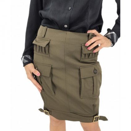 CHRISTIAN DIOR Khaki Skirt