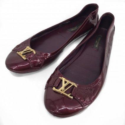 LOUIS VUITTON Burgundy Ballerinas 34,5