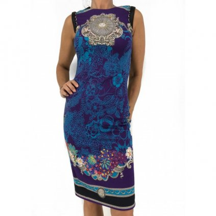 VERSACE Purple Dress with Printing