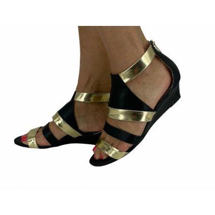 JIMMY CHOO Black And Gold Sandals 39,5
