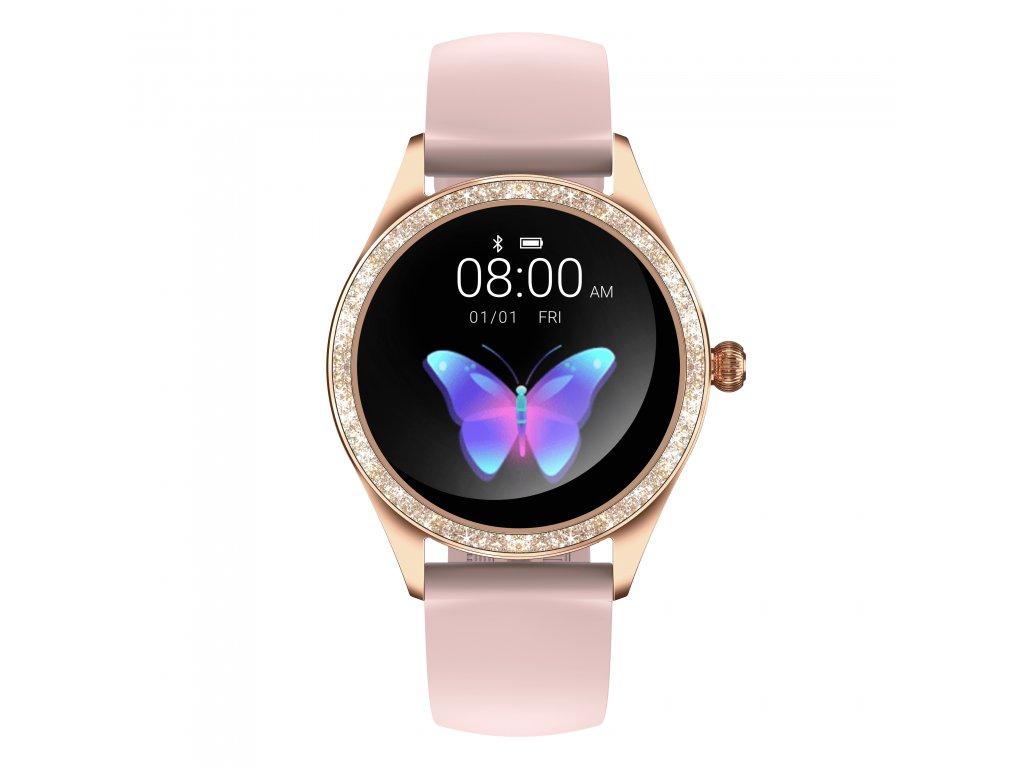 ARMODD Candywatch Crystal 2 zlatá s růžovým řemínkem