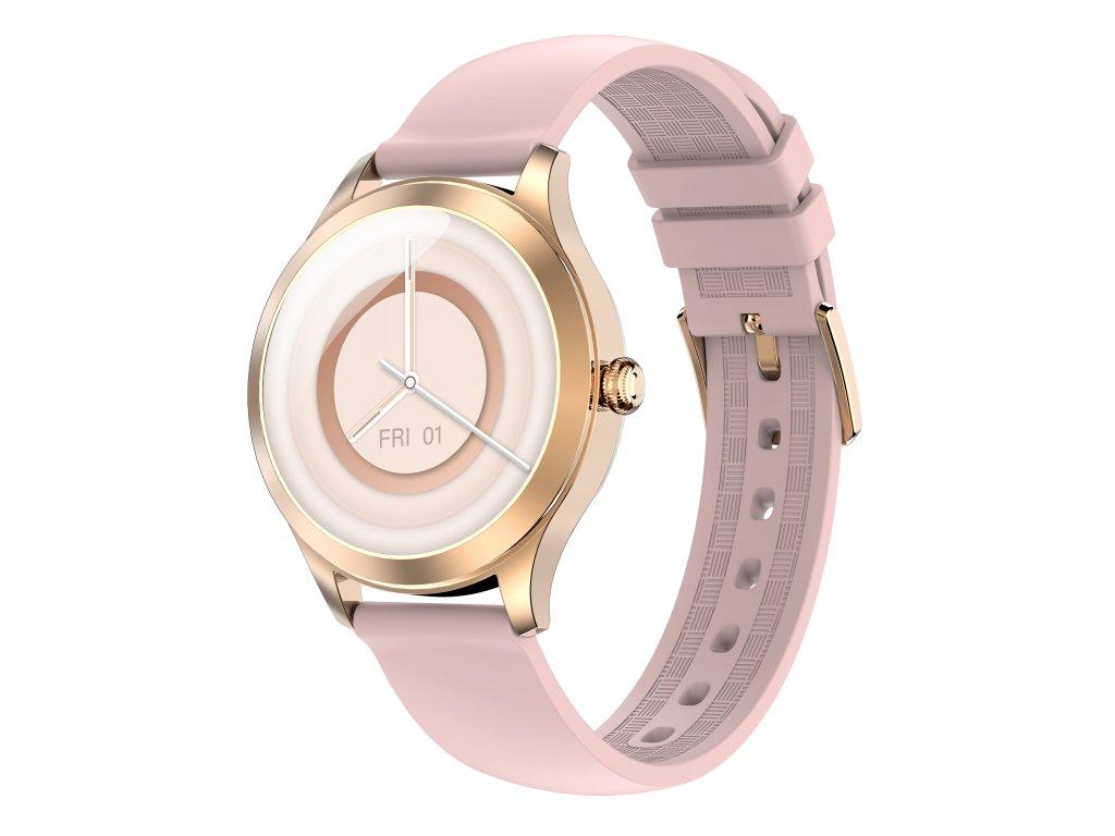 ARMODD Candywatch Premium 2 zlatá s růžovým řemínkem