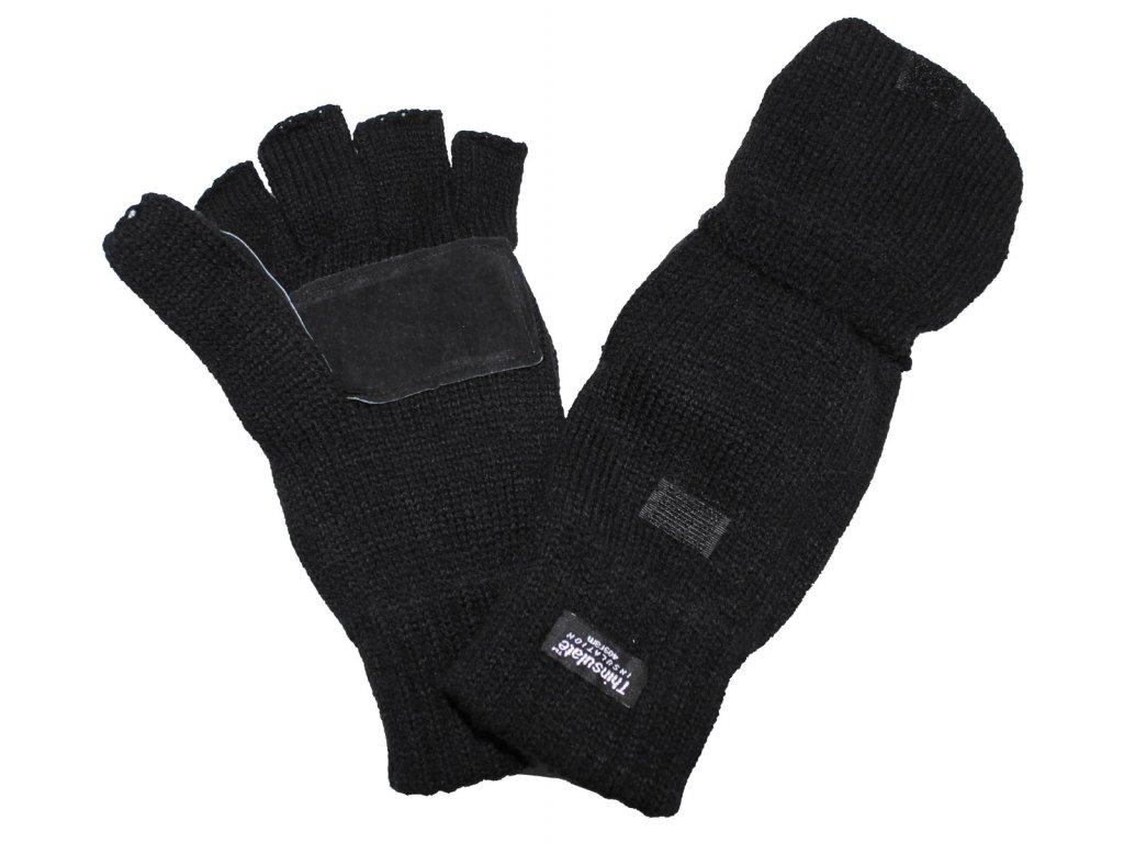 aaf70586117 Multifunkční rukavice - bezprstové - palčáky Thinsulate černé - Army ...