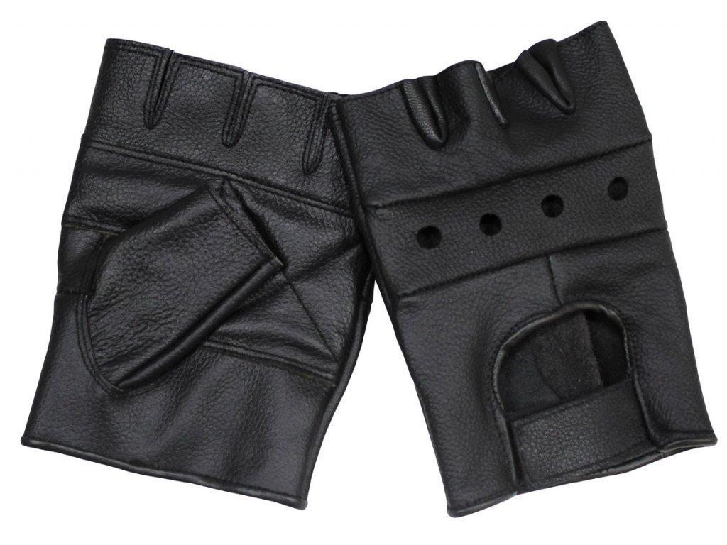 Motorkářské kožené rukavice bez prstů bez nýtů černé - Army-Eshop ... 2dcd237752