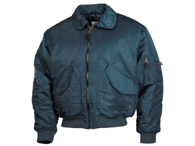 CWU bunda - bomber s límečkem modrý