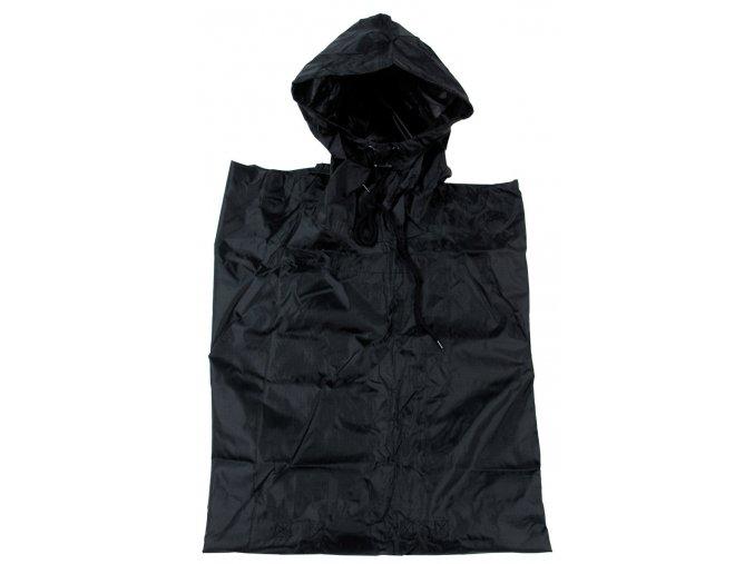 US pončo - poncho černý plášť 144 x 223 cm