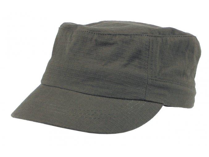 US polní čepice s kšiltem olivová Rip Stop Elasti-Fit