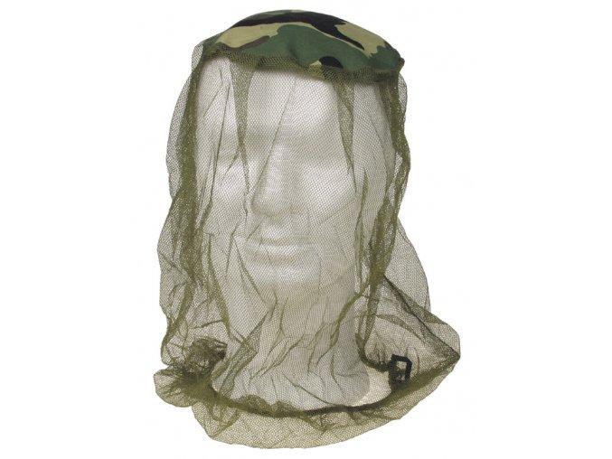 Moskytiéra (moskitiéra) na hlavu oliv-woodland na gumičku