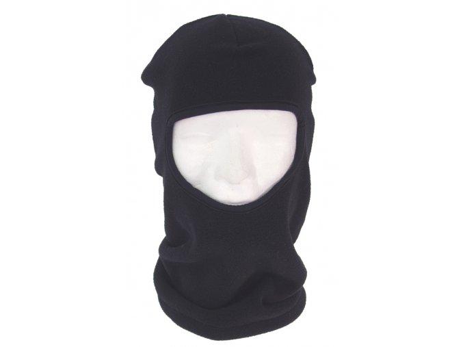 Kukla 1 otvor černá Polyester-Fleece