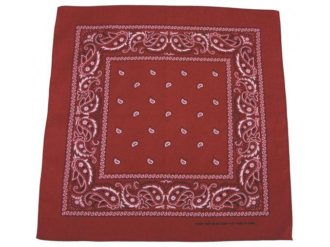 Šátek červeno-černá barva 55 x 55 cm bavlna