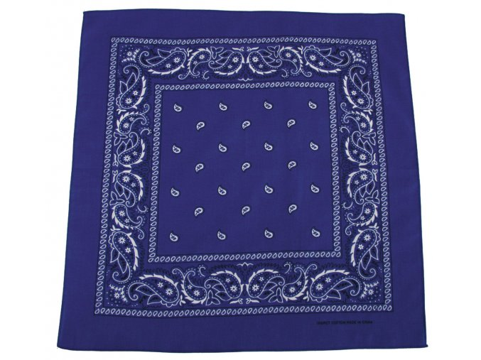 Šátek modro-bílá barva 55 x 55 cm bavlna
