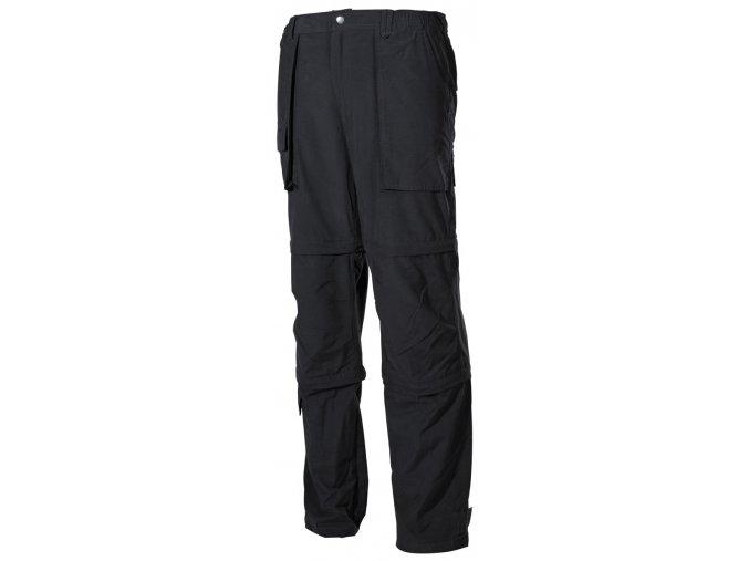 Multifunkční outdoorové kalhoty černé Microfaser