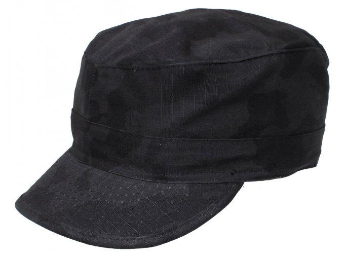 US BDU polní čepice s kšiltem Rip Stop nightcamo S