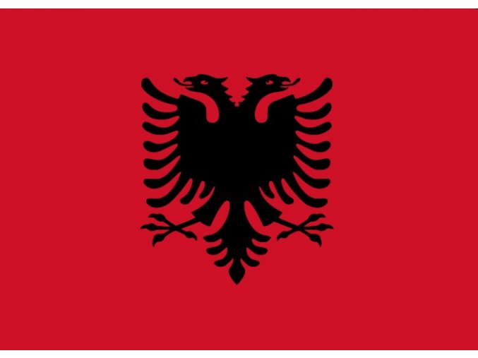 Vlajka Albánie o velikosti 90 x 150 cm