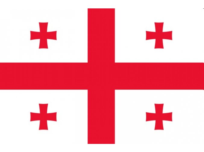 Vlajka Gruzie o velikosti 90 x 150 cm