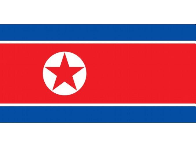 Vlajka Severní Korea o velikosti 90 x 150 cm