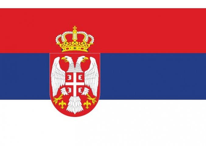 Vlajka Srbsko o velikosti 90 x 150 cm