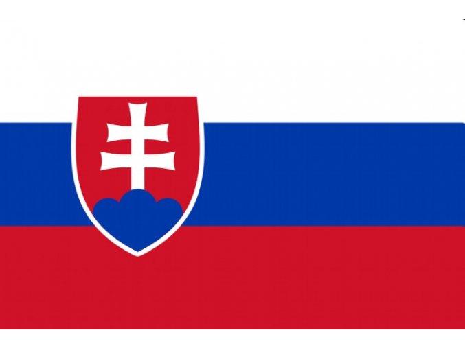 Vlajka Slovensko o velikosti 90 x 150 cm AKCE