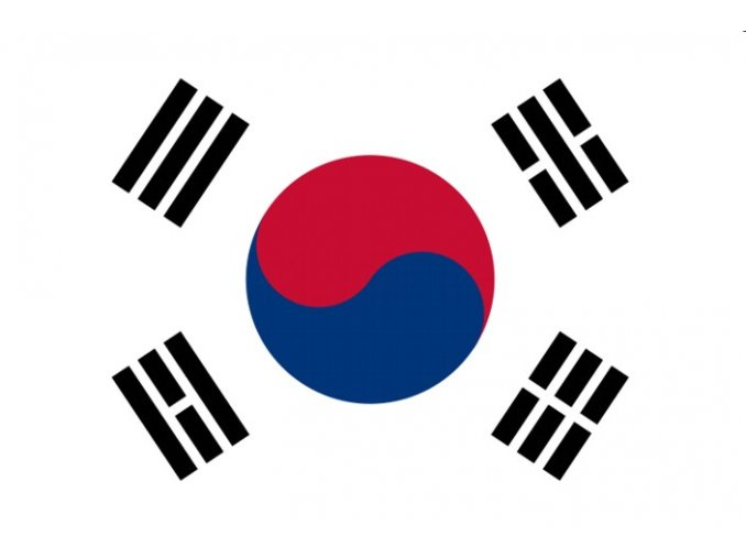 Vlajka Jižní Korea o velikosti 90 x 150 cm