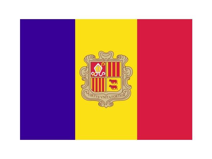 Vlajka Andory o velikosti 90 x 150 cm