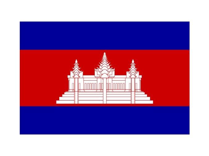 Vlajka Kambodži o velikosti 90 x 150 cm