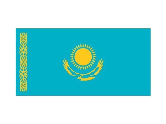 Vlajka Kazachstánu o velikosti 90 x 150 cm
