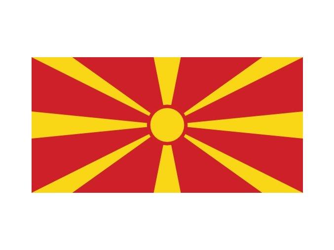 Vlajka Makedonie o velikosti 90 x 150 cm