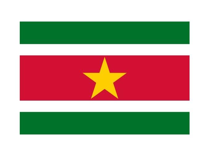 Vlajka Surinamu o velikosti 90 x 150 cm