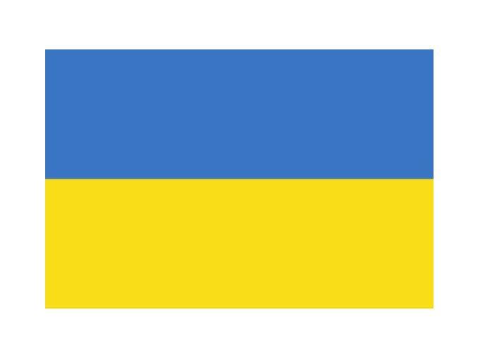 Vlajka Ukrajiny o velikosti 90 x 150 cm