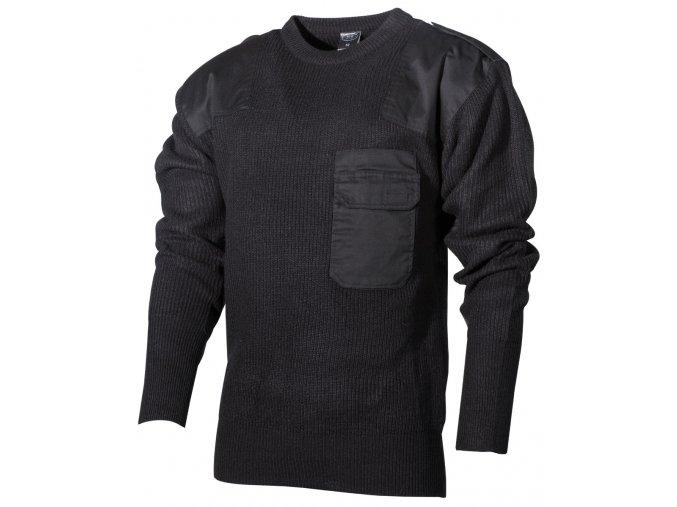 BW svetr s kapsou černý