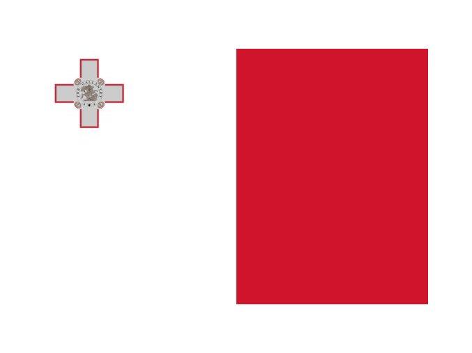 Vlajka Malty o velikosti 90 x 150 cm
