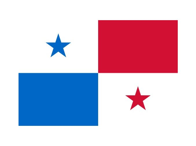 Vlajka Panamy o velikosti 90 x 150 cm