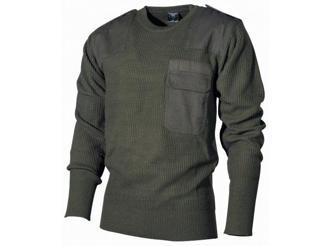 BW svetr s kapsou oliv