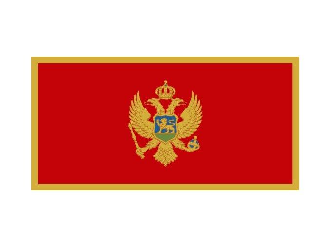 Vlajka Černé Hory o velikosti 90 x 150 cm