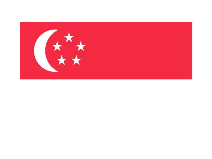 Vlajka Singapur o velikosti 90 x 150 cm