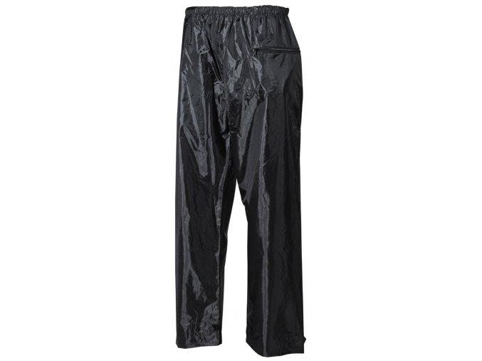 Kalhoty do deště polyester + PVC černé