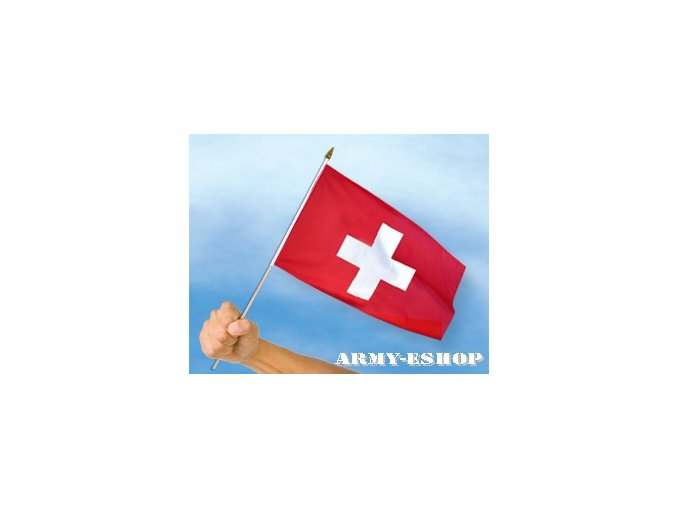 Vlaječka - praporek Švýcarsko 30 x 45 cm