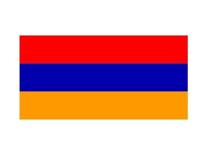 Vlajka Arménie o velikosti 90 x 150 cm