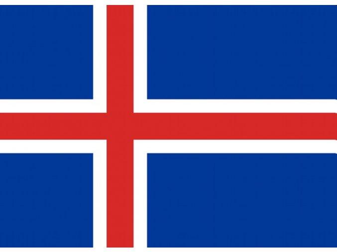 Vlajka Island o velikosti 90 x 150 cm