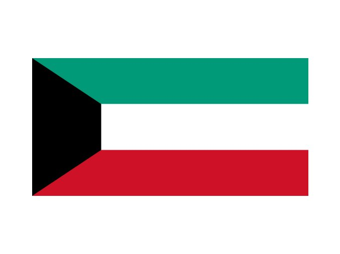 Vlajka Kuvajt o velikosti 90 x 150 cm