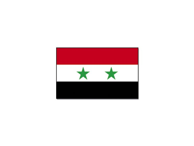 Vlajka Syrie o velikosti 90 x 150 cm
