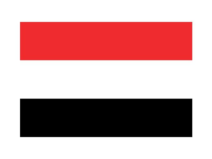 Vlajka Jemen o velikosti 90 x 150 cm