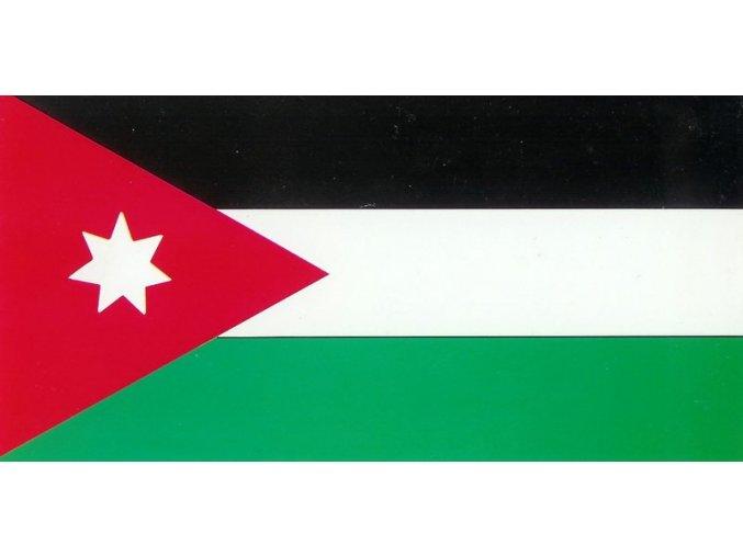 Vlajka Jordánsko o velikosti 90 x 150 cm
