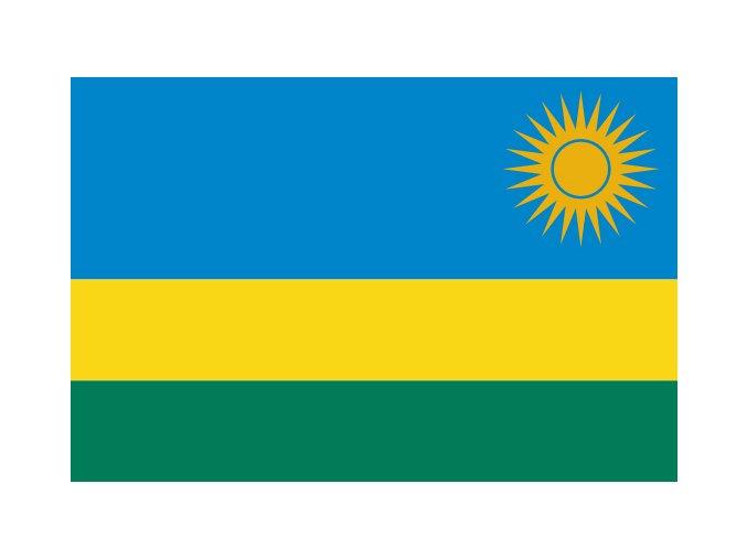 Vlajka Rwanda o velikosti 90 x 150 cm