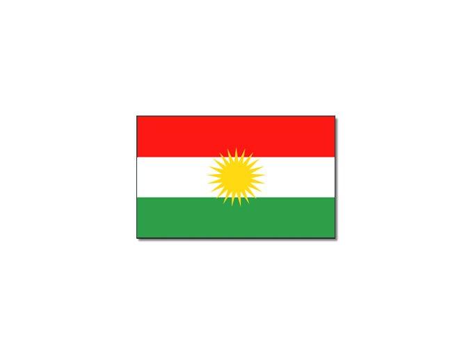 Vlajka Kurdistán o velikosti 90 x 150 cm