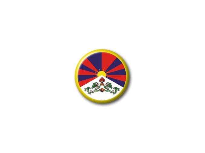 Placka vlajka Tibet 25 mm