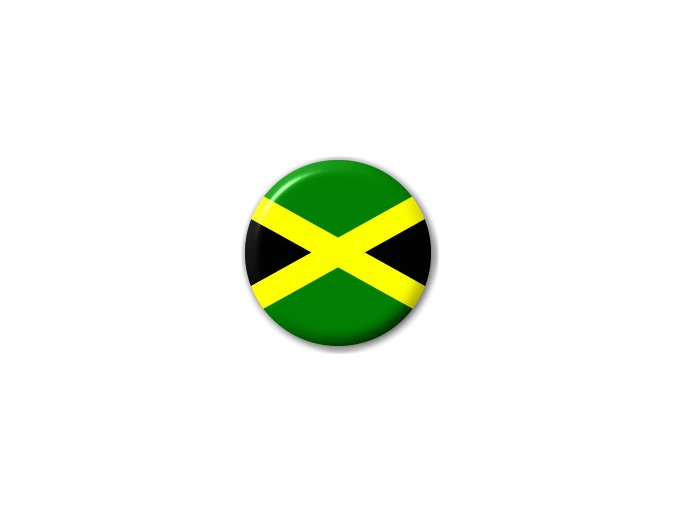 Placka vlajka Jamajka 25 mm