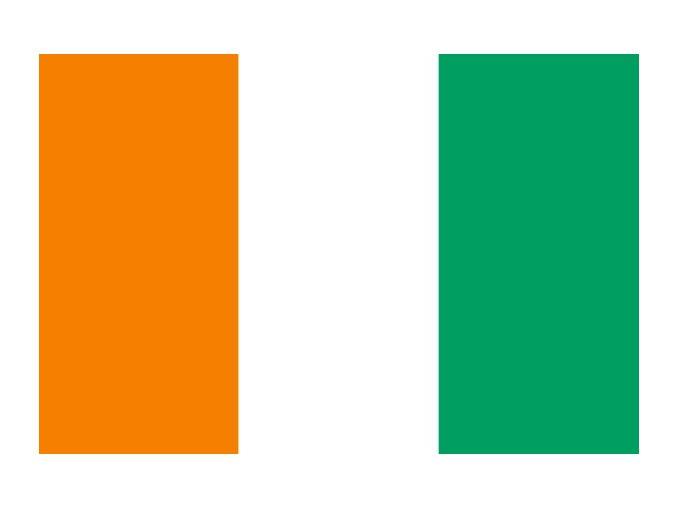 Vlajka Pobřeží slonoviny o velikosti 90 x 150 cm